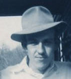 Dad in hat, about 1949